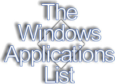 The Windows Applications List-Windows Apps for Graphics.